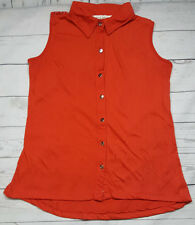 French Laundry Womens Blouse Button Down Red Size Petite Medium