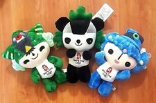 3x 2008 Beijing Olympic Plush Doll 10inch Beibei, Nini, And Fuwa