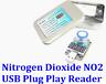 USB Plug Play Portable Nitrogen Dioxide NO2 Gas Reader Sensor Detection 0-20ppm