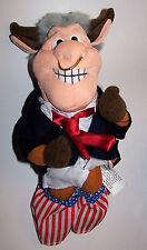 Vintage Bull Clinton Meanie Babies Twisted Toys Plush - Infamous Series