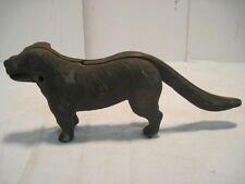 VINTAGE Cast Iron Saint Bernard Dog Nutcracker The Boss Nut Cracker DOOR STOPPER