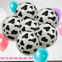 10/24/36/100pcs Cow Print Latex Balloon Party Wedding Birthday Decor Vogue Gift