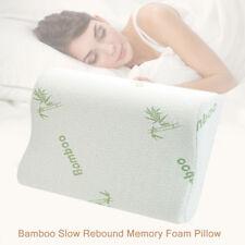 En bambou oreiller en mousse à mémoire orthopédique tête cou soutien du dos