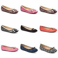849cb16d5721 New Womens Lady Designer Comfort Slip On Ballet Flats Many Colors   Styles