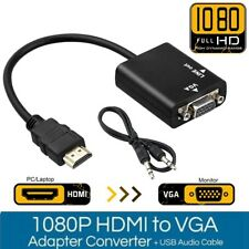 1080p HDMI Male to VGA Female Cable Converter Adapter for PC TV Monitor Xbox DVD
