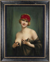 "Old Master-Art Antique Oil Painting art Noblewoman girl on canvas 24""X36"""