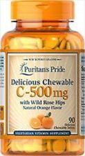 Vitamina C 500 mg 90 Comprimidos  Masticable, Sabor de Naranja(OFERTA)