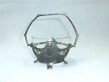 Jugendstil Schale mit Glaseinsatz um 1900 Zinn wohl WMF