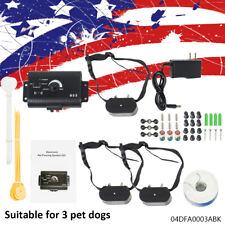 Underground Electric Dog Fence System Waterproof Shock Collars For Pet Usa Stock