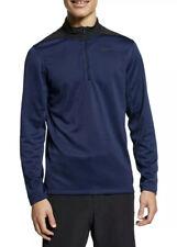 Nike Golf Size XL Dri Fit Quarter 1/4 Zip Pullover Blue Black Ah5548 452