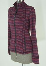 Lululemon Define Jacket Size 8 Regal Plum Space Dye Twist Running Vented Cuffins