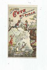 Victorian Tobacco Trade Card for CUTE 5 Cent Cigar Merchants Cigar Factory