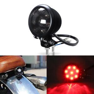 Motorcycle Rear Tail Brake Stop Light Lamp For Harley Bobber Chopper Cafe RED UK