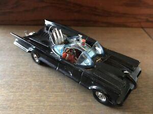 Vintage Corgi 267 Batmobile model. Original 1966 edition with Batman and Robin