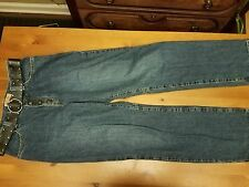ZENA JEANS AUTHENTIC DARKWASHED SNAP FLY BOOTCUT JEANS WITH BELT 10