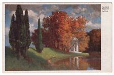 """Künstler-AK v. Hermann Rüdisühli / """"Im Park"""", 1925"""