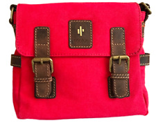 Red Cactus Small Satchel. Size: 22 X 20 X 7cm