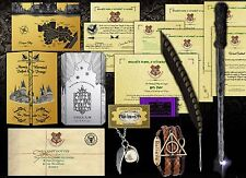 Harry Potter Personalised Gift Set Marauders Map, Wand, Quill, Hogwarts Letter