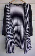 Threadz Women's Black & White Stripe Cardigan - No Size Tag - see measurements