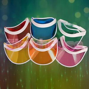 Unisex Neon Sun Visor Hat Headband Cap For Golf Stag Poker Party Lot