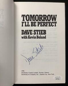 Dave Stieb Signed Book Tomorrow I'll Be Perfect HCB Blue Jays Baseball Auto JSA