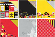 2 Ea of 6 Magical Moments Moxxie Double Sided Cardstock Scrapbook Paper Mickey
