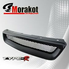 Honda Civic 96-98 Jdm Front Bumper Grille Grill Black Type-R Style with Emblem