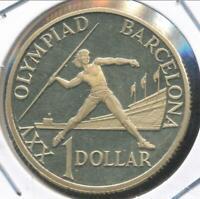 Australia, 1992 One Dollar, $1, Elizabeth II (Barcelona Olympics) - Proof