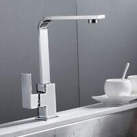 pivotant bec évier cuisine robinet évier lavabo mitigeur robinet carré laiton  T