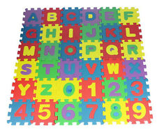 Kids Play Mats Eva Foam Large Alphabet Floor Childrens Puzzle Numbers Soft Tiles