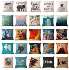 """Art Animal Decorative Cotton Linen Throw Pillow Case Cushion Cover Sofa 18"""""""