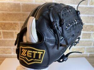 Baseball glove ZETT GROUND HERO BJGB72630 BLACK Junior 10in USED IN JAPAN