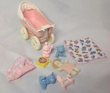 1998 Barbie Tiny Steps Kelly Baby Carriage & Toys - Doll Accessories Lot