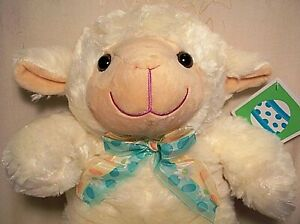 Meadow Friends Easter SHEEP LAMB Stuffed Animal Plush Toy Cream White Child 15""