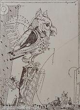 Simon DITTRICH 13.1.1940 Original Gravure à l'eau-forte signé Copie avec Pp.