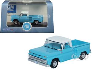 Box Dented 1965 CHEVROLET STEPSIDE C10 PICKUP BLUE 1/87 (HO) OXFORD 87CP65001
