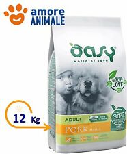 Oasy Dry Dog One Adult All Breed Maiale 12 Kg - Crocchette per cane cani adulti