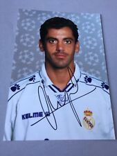 Quique Sánchez Flores Real Madrid in-persona Signed Rare foto 10 x 15
