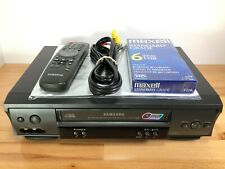 New listing Samsung Vr8160 Vhs Vcr 4 Head Hi-Fi Video Cassette Recorder (with Remote) Tested
