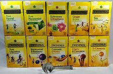 Twinings Fruit and Herbal Infusions Exotic Variety Pack, 10 boxes,200 Teabags