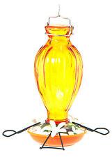 New listing Oriole Bird Feeder, Fluted Glass, 20-oz.