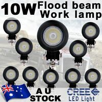 10X 10W CREE LED Driving Work Light Flood Lamp Round Bike Car Driving AU Ship