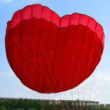 3D red 1 Line Stunt Parafoil Heart POWER Sport Kite outdoor toy free shipping