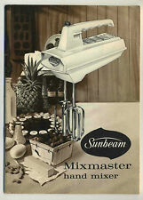 Vintage 1960 SUNBEAM MIXMASTER Handmixer User Guide & Manual, Recipe Booklet