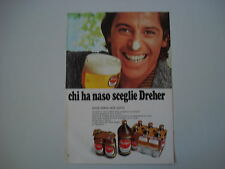 advertising Pubblicità 1971 BIRRA DREHER