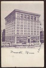 Postcard WORCESTER Massachusetts/MA  New Slater Building view 1907