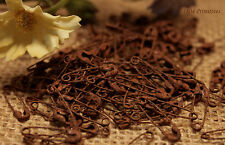 """100 Primitive Itty Bitty 3/4"""" RUSTY Safety Pins ~ Rusted"""