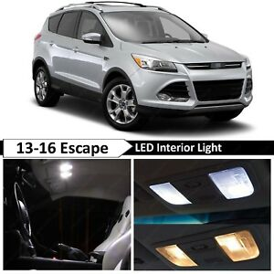 Fits 2013-2016 Ford Escape White License Plate Trunk Footwell Tag LED Lights