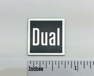 Dual Turntable Badge Logo For Dust Cover or Plinth Custom Made Aluminum