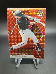 Buster Posey 2021 Panini Mosaic Mosaics Red SP Hobby Exclusive San Francisco